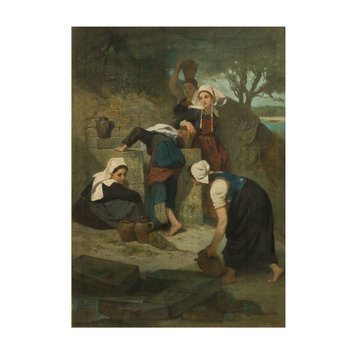 Oil painting - Girls at a Well
