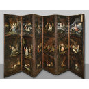 Group of Eighteen Landscapes with Animals and Figures (folding screen) (Screen)