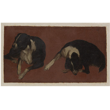 Oil painting - Two Studies of a Dog