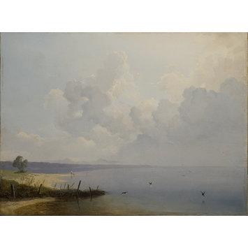 Oil painting - Lake of Constance