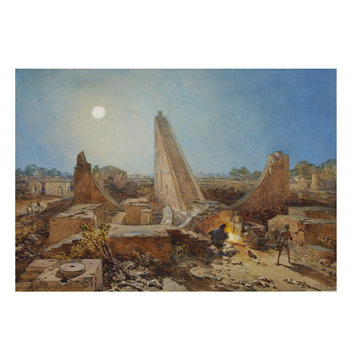 Painting - Ancient Observatory,  Jantar Mantar, Delhi