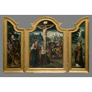 The Crucifixion with saint Martin and saint Donatian (Triptych)