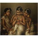 Three Nayar Girls of Travancore (Oil painting)