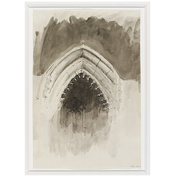 Drawing - Direct Study of Gothic Arch in Great Sculpture Courts - Victoria & Albert Museum