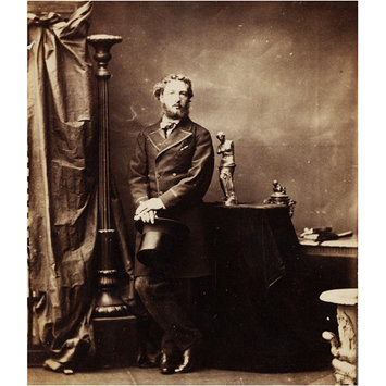 Photograph - Carte de visite by Camille Silvy depicting the artist Frederic Leighton (1830-1896).