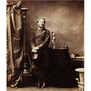 Carte de visite by Camille Silvy depicting the artist Frederic Leighton (1830-1896). (Photograph)