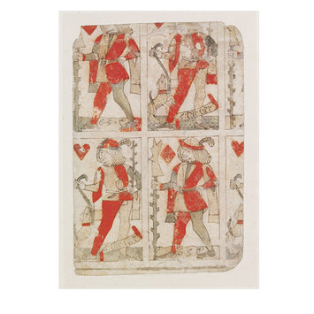 Print - Part of an uncut sheet of playing cards