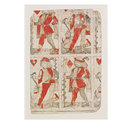 Part of an uncut sheet of playing cards (Print)