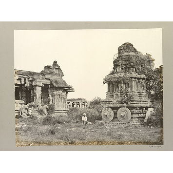 Photograph - Hampi (Vijayanagar) Bellary District: Garuda Temple and Maha Mandapa, Vitthala Temple Complex.