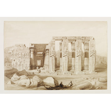 Drawing - Ruins of the Memnonium, with part of the cemetery of Thebes