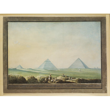 Watercolour - The Pyramids of Giza