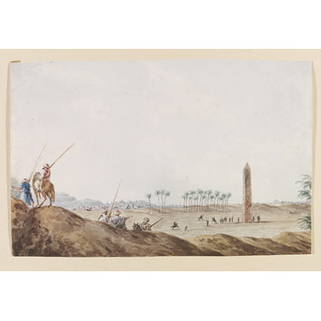 Watercolour - An Ancient Obelisk At Matarea, Formerly Heliopolis
