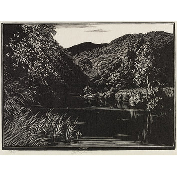 Woodcut - Somewhere in Wales