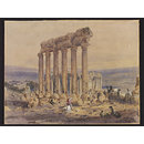 The Temple of Jupiter, Baalbek (Watercolour)