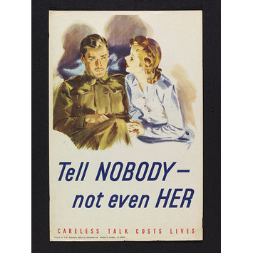 Poster - Tell Nobody - not even Her!