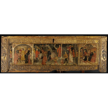 Cassone panel - Scenes of a Marriage Ceremony (cassone panel)