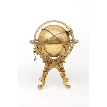 Mechanical globe clock