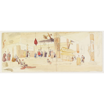 Watercolour - Chancel of the Church of the Nativity, Bethlehem.