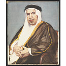 Portrait of Sheikh Abdallah al Salem, Ruler of Kuwait (Watercolour)