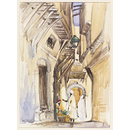 In Arab Quarter Algiers (Watercolour)