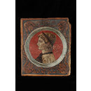 Profile bust of a laureated Roman emperor facing left (Tempera painting)