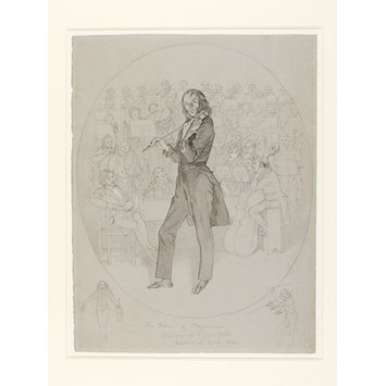 Drawing - Debut in London of Nicolo Paganini (1784 - 1840), Italian Violinist