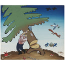 The Woodcutter Chopping Down The Tree (Drawing)