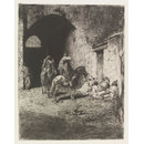 Garde de la Casbah à Tetuan  (Etching and aquatint)