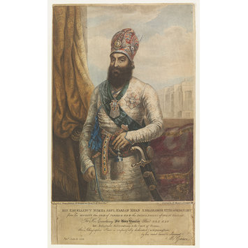 Lithograph - His Excellency Mirza Abul Hassan Khan Ambassador Extraordinary