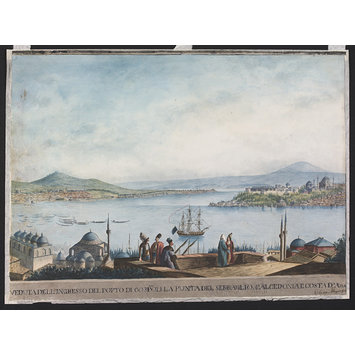Watercolour - Entrance to the Port of Constantinople