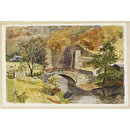 Bridge to Cox's Farm, Ashopton (Watercolour)