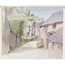 The Gateway, Corfe Castle (Watercolour)