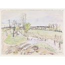 River Brain, Witham (Watercolour)