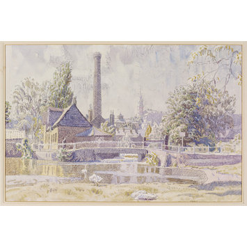 Watercolour - Middle Mill, Colchester