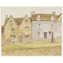 Houses on the Green, Tetbury (Watercolour)