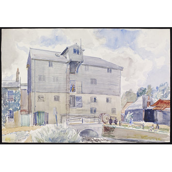 Watercolour - The Mill, Lemsford