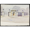 Entrance to Foundling Hospital (Watercolour)