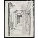 A doorway and part of a staircase, Geffrye's Museum, Shoreditch (Drawing)