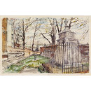 Hogarth's Tomb and Chiswick Reach (Watercolour)