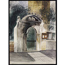 Gateway to St. Olave's Hart Street, E.C.2. (Watercolour)