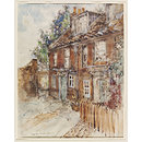 Page's Yard, Chiswick Mall (Watercolour)