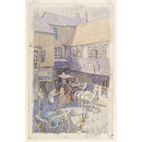 The Yard of the White Hart Inn, Brentford, Middlesex (Watercolour)