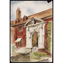 Entrance to Bromley College (Watercolour)