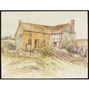 Cottages near Hopton (Watercolour)