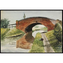 Bridge over Canal, near Litchfield (Watercolour)