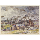 The Potteries, Tunstall (Watercolour)