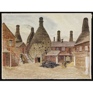 Watercolour - Wedgwood Works, Etruria