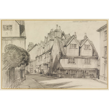 Drawing - Old buildings, Norwich