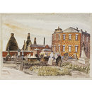 Bethesda Methodist Chapel and Churchyard, Hanley, Staffordshire (Watercolour)