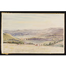View over Pewsey Vale from Martinsell (Watercolour)